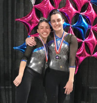 2018 Long Beach gymnastics event Ciara and Lauren Hunter