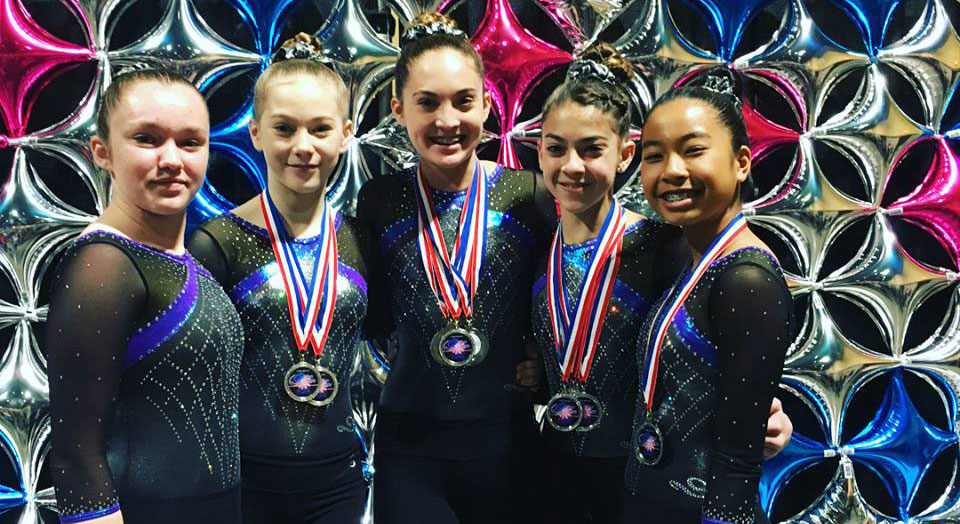 2018 gymnastics event in Long Beach Convention Center