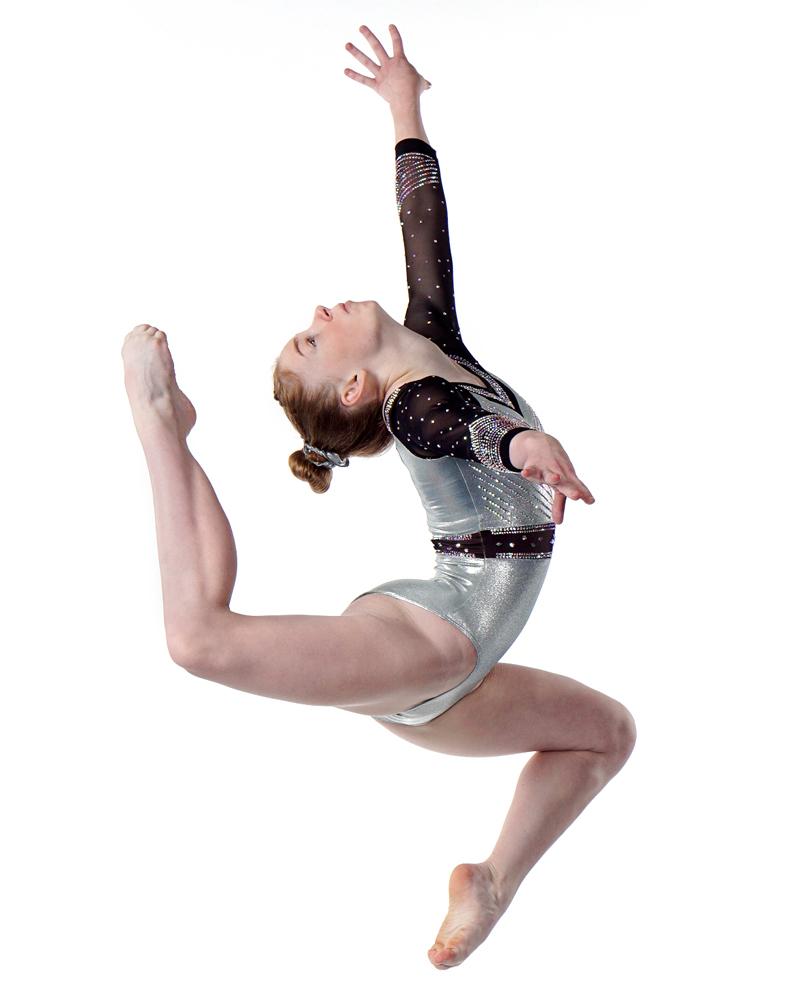 Bridget Kemp executing gymnastics move