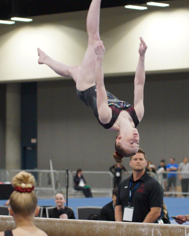 Bridget Kemp somersault