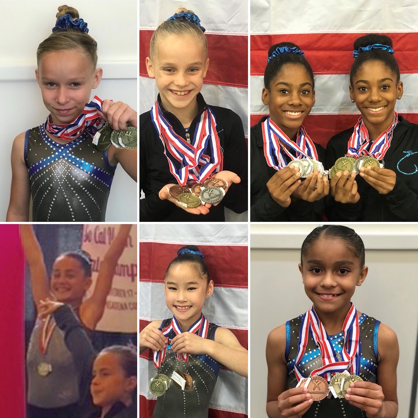 Flight School Gymnastics Levels 3s and 4s finished at California State championships with 44 medals!