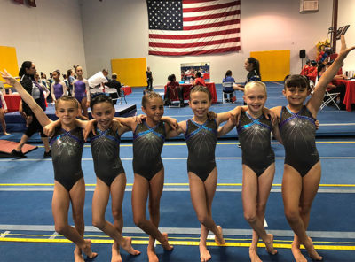 Flight School Gymnastics team at the 2018 Wonder Girl Cup