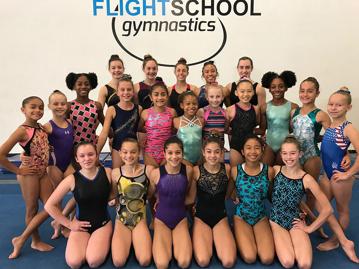 Flight School Optionals Gymnastics Team
