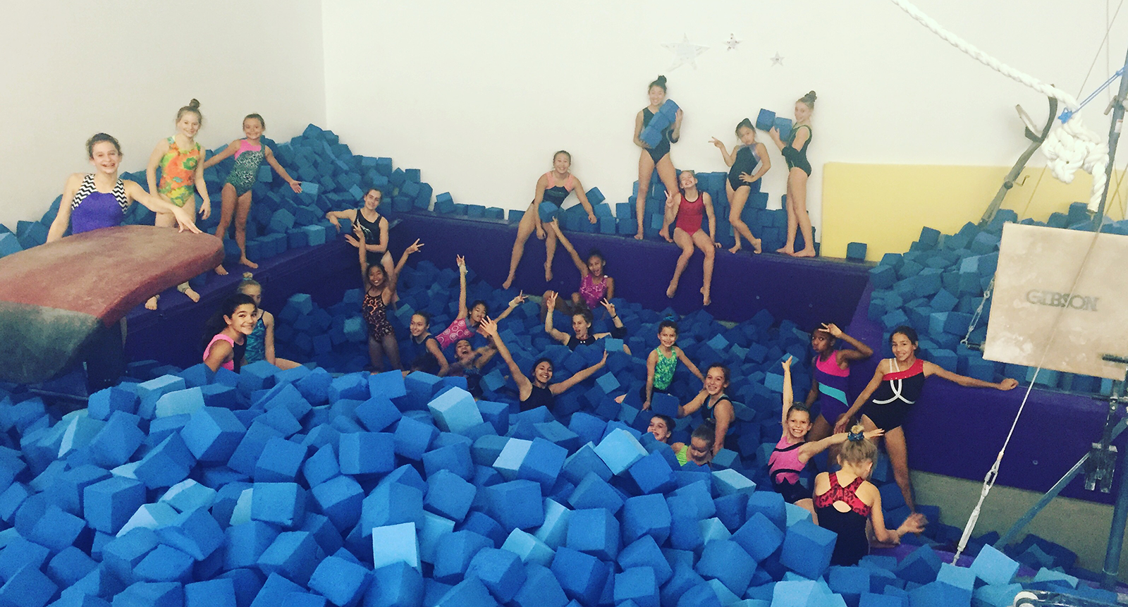 foam pit at Flight School Gymnastics in Torrance