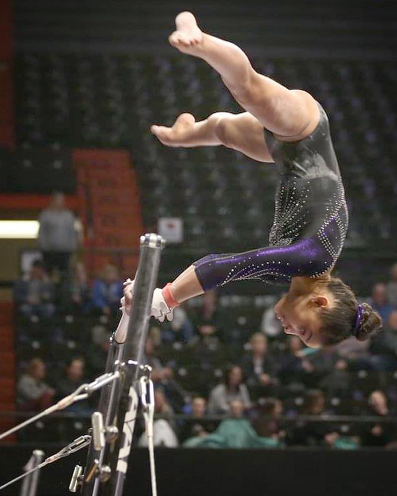 Maliyah James, gymnastics event,bars