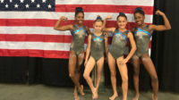 California State Gymnastics Championships 2017 - Levels 3 and 4 - Flight School gymnasts medal!