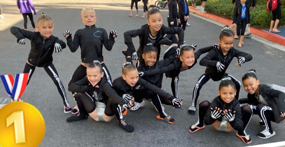 Flight School gymnasts at 2019 Tricks 4 Treat meet